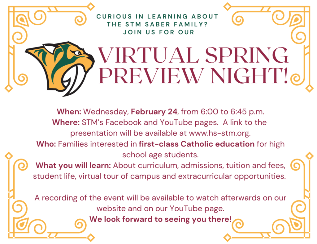 Virtual Spring Preview Night 2021