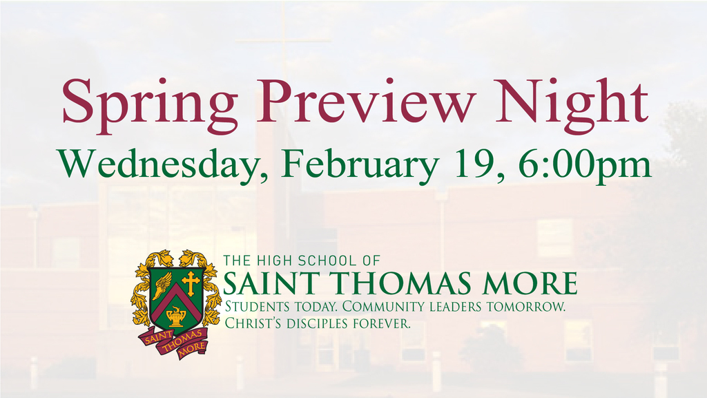 Spring Preview Night: 2/19/20 at 6 PM