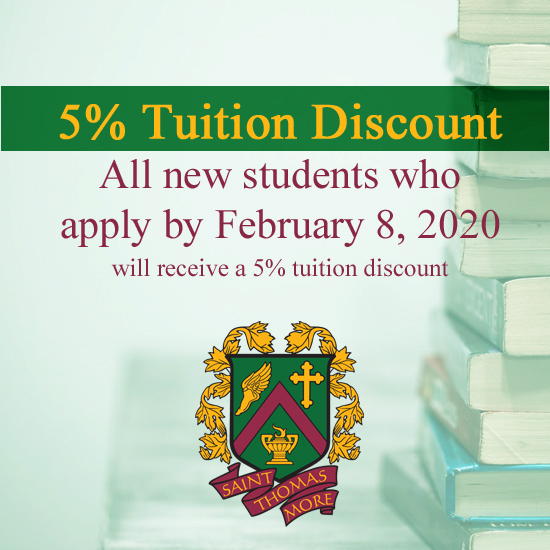 5% Tuition Discount 2020-21 School Year