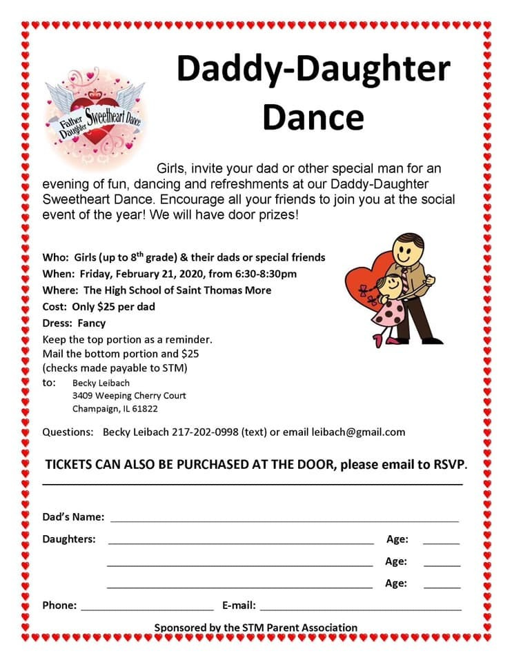 Daddy/Daughter Dance! Such an fun evening this Friday! RSVP by email and pay at the door!