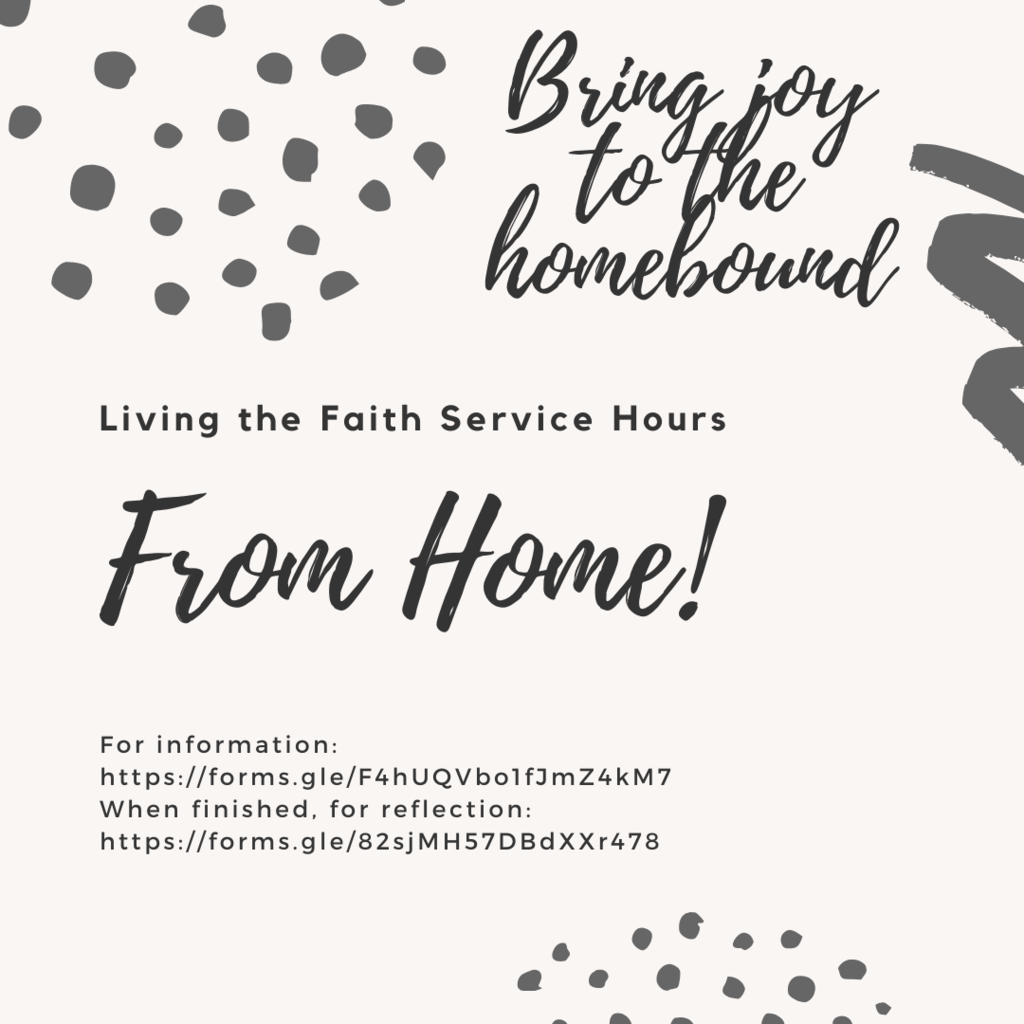 Living the Faith Service Hours Opportunity