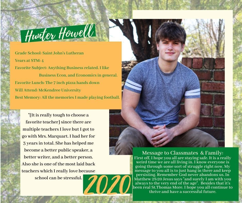 Hunter Howell Senior Spotlight