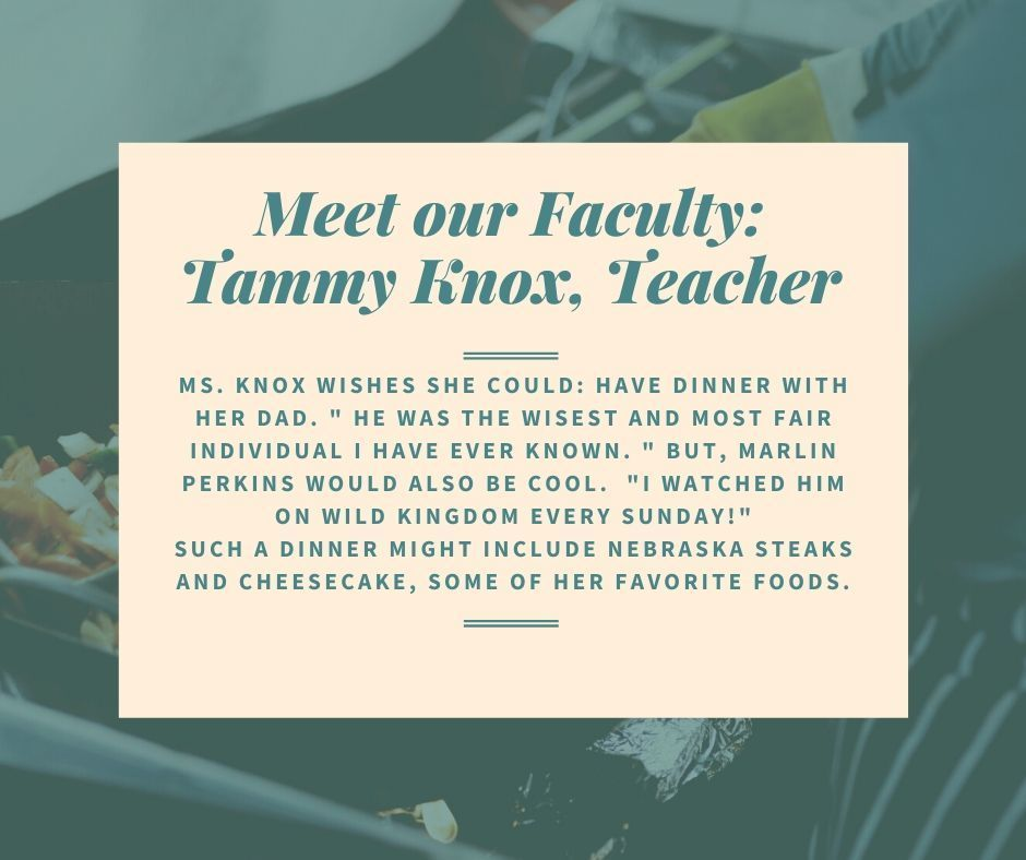 Tammy Know Faculty Spotlight